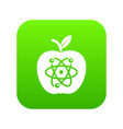 eco apple icon green vector image vector image