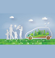 eco car concept vector image vector image