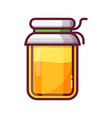 glass jam or honey jar icon vector image