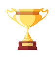 gold award in form of goblet on small stand vector image vector image
