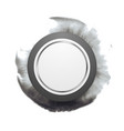 Grey circle shape on dark watercolor splash vector image