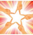 hands figure star vector image vector image