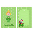 happy birthday kids postcard with princess vector image vector image