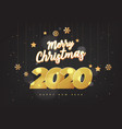 happy new year 2020 numbers typography greeting vector image vector image