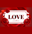 happy valentines day background design vector image