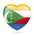 Heart icon of Comoros vector image vector image