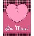 Heart in stitched textile style pink heart textile vector image vector image