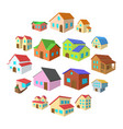 houses cartoon icons set vector image vector image