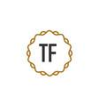 Initial letter tf elegance creative logo