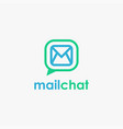 mail and bubble chat logo icon template vector image