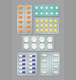 medicine blisters transparent set vector image