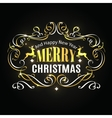 merry christmas typographic label vector image vector image