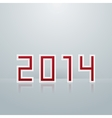 New Year Figures The First Option vector image vector image