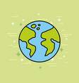 planet earth world globe map vector image