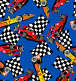 Racing car seamless pattern vector image vector image