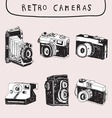 Retro and Old Camera vector image