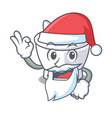 santa mortar mascot cartoon style vector image vector image