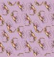 seamless colorful shrimps background pattern vector image