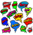 set comic style speech bubbles with phrases vector image
