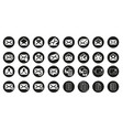 set email icon logo design vector image