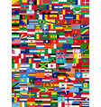 set flags all countries vector image