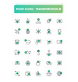 set of 30 line icons transportation vector image vector image