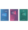 set of booklets with geometric lines and gradient vector image
