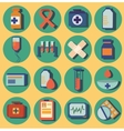 Set of medical icons flat design colorful vector image vector image
