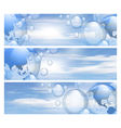 Sky and bubbles banners vector image vector image