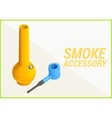 smoke accessories 3d vector image
