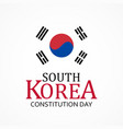 south korea constitution day background vector image