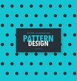 stylish blue background with black polka dots vector image vector image
