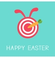 Target with rabbit ears and carrot arrow Happy vector image