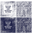 Texture frame and seamless pattern vector image vector image