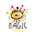 voodoo african and american magic logo eye with vector image vector image