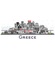 welcome to greece city skyline with gray
