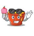 with ice cream honey character cartoon style vector image