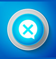 x mark cross in circle icon check cross mark vector image vector image
