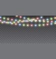 xmas color garland festive decorations glowing vector image vector image