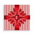 Gift Box with Red Bow and Ribbon vector image