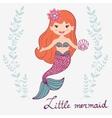 Little mermaid vector image