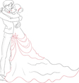 Wedding embracing couple vector image