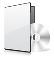 Blank Case and Disk vector image