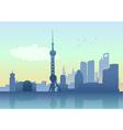Silhouette of Shanghai skyline vector image
