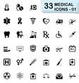 33 black medical icons 01 vector image vector image