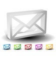 3d email envelope closed letter icons symbols vector image