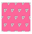3d seamless triangle background pink vector image vector image