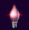 a realistic bulb with pulse and sparkles garlan vector image vector image