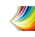 abstract rainbow arrow banner vector image vector image