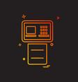 atm icon design vector image